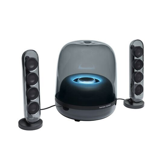 Harman Kardon SoundSticks 4 - Black - Bluetooth Speaker System - Hero